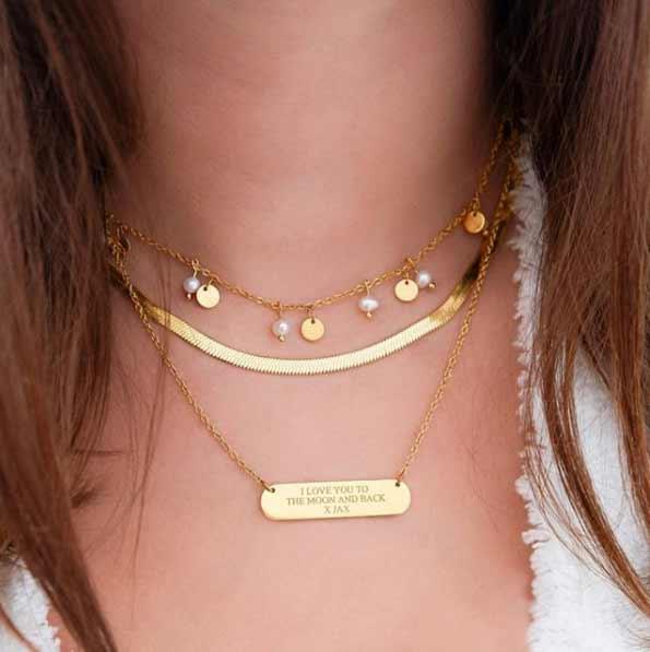 El collar es un complemento de novia fundamental
