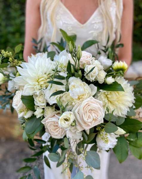 Ramo de Flores de una novia que se va a casar