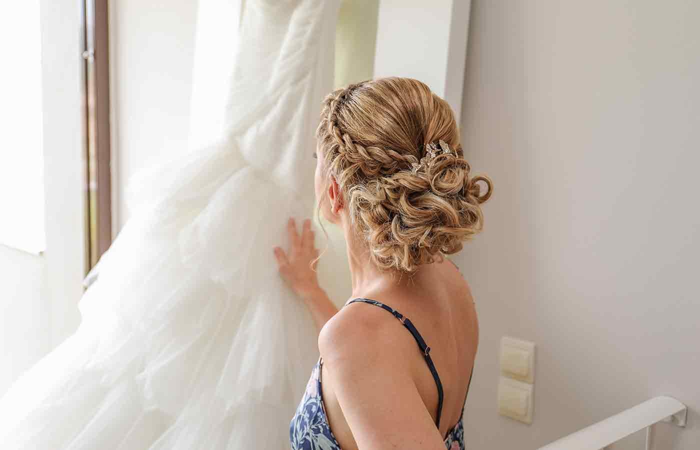 Peinado con trenzas para boda