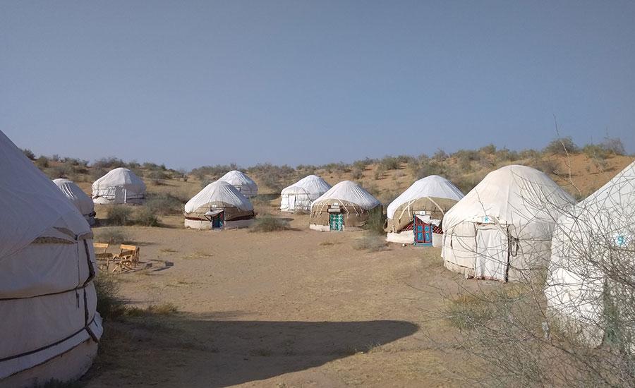 Dormir en una Yurta