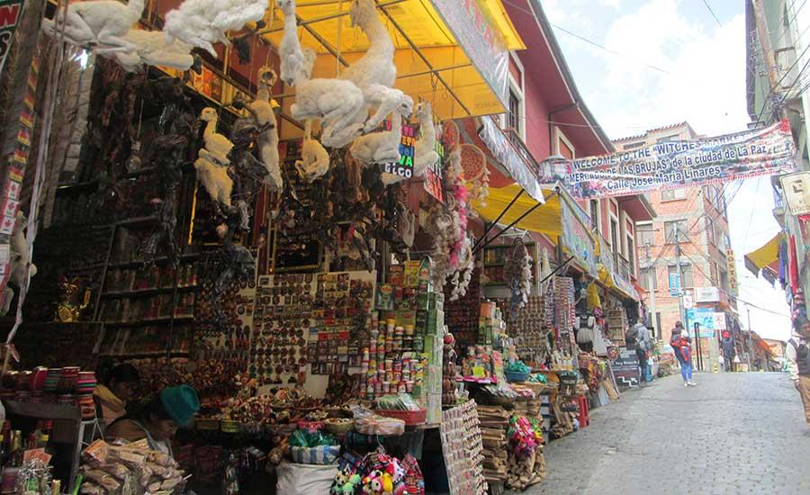 Mercado de las Brujas en La Paz (Bolivia)