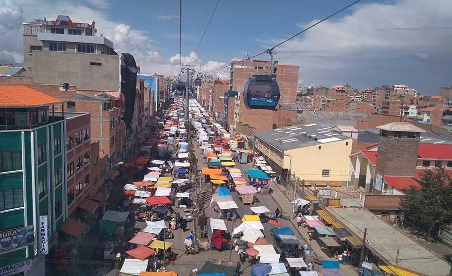 Teleférico de la Paz en Bolivia