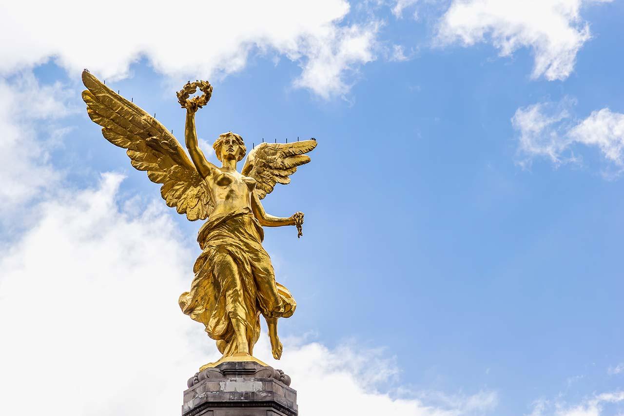 Mítico Angel de la Independencia en Ciudad de Mexico