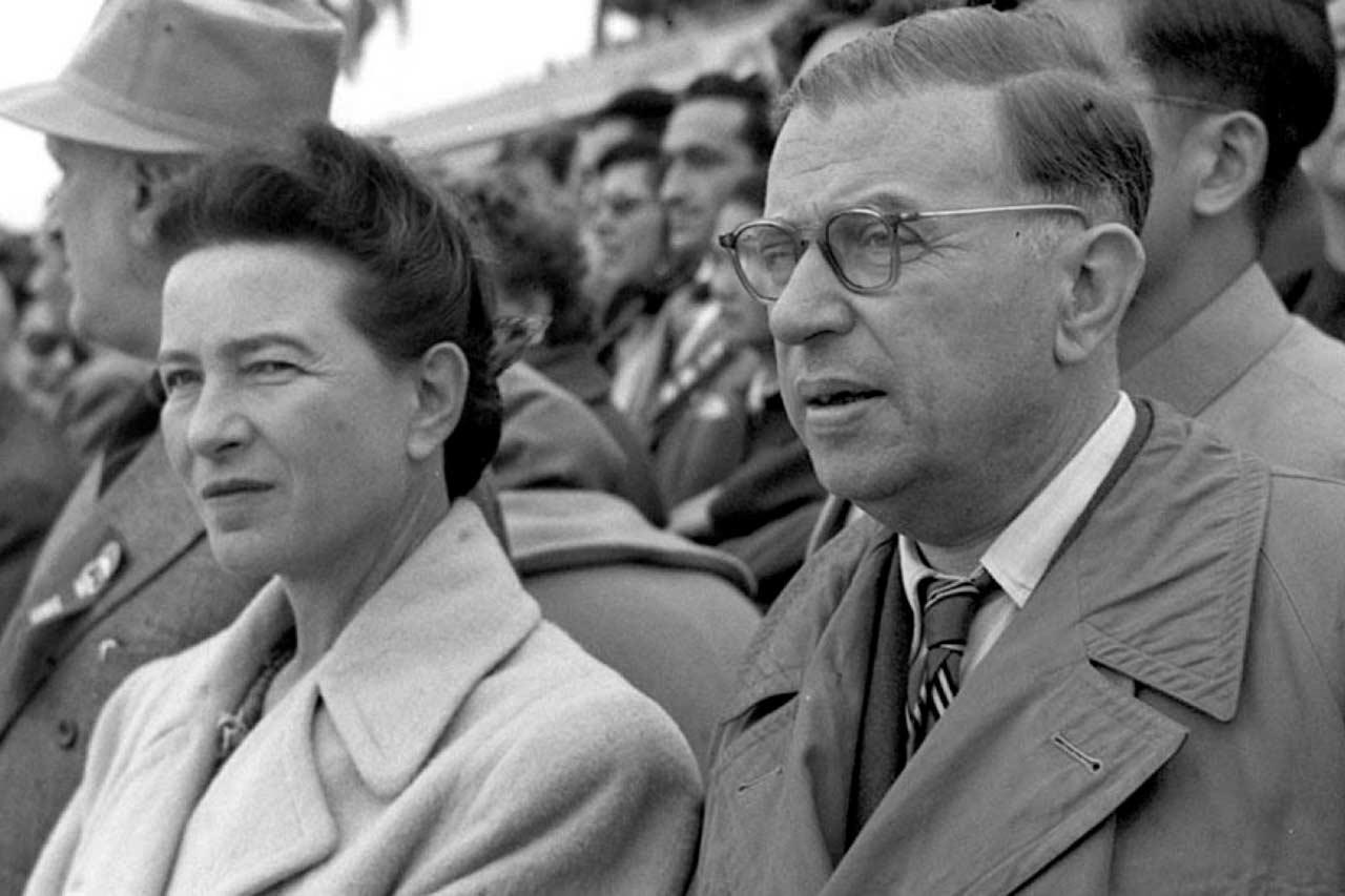 Simone y Jean Paul ambos filósofos