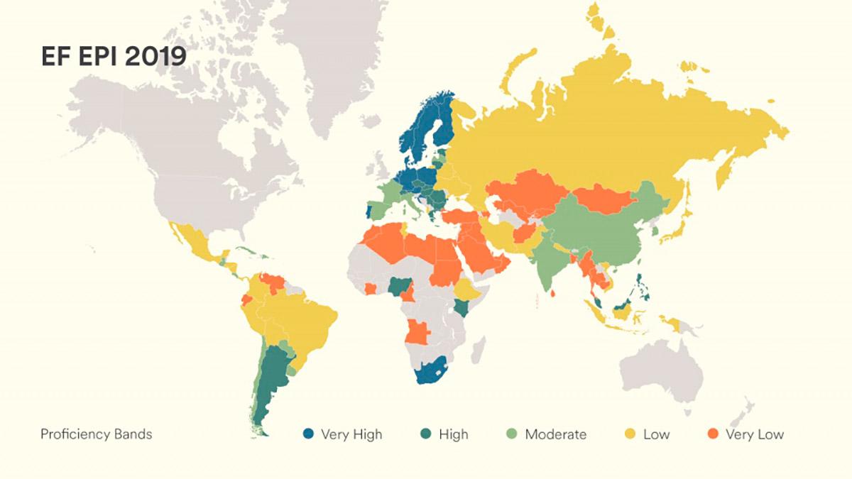 Cuanto Inglés se habla en un país