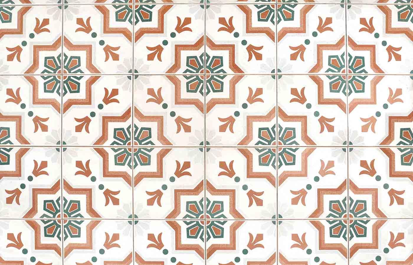 Ejemplo de Mosaico de Baldosas Hisdráulicas