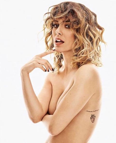 Tattoo corazón de Blanca Suarez