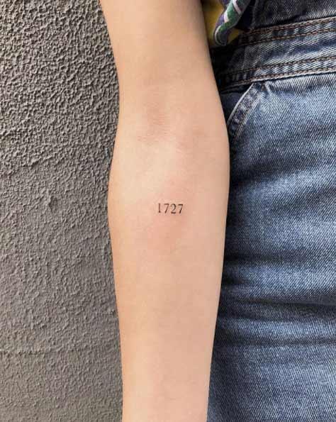 Tatuaje Pequeño de Aitana Ocaña