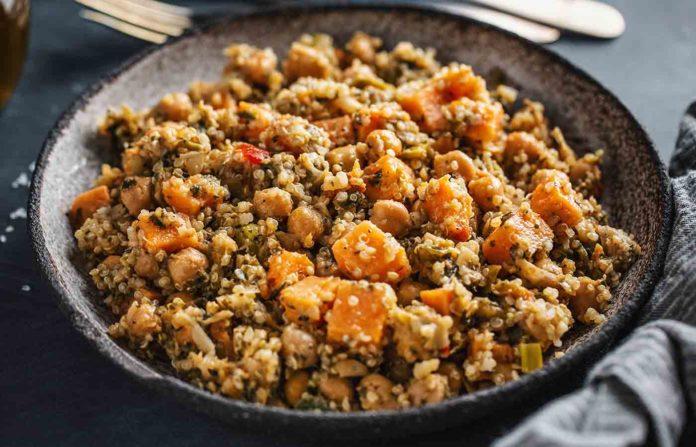 Receta de quinoa con verduras rápida y sana