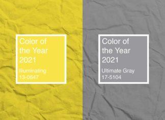 Ultimate Gray e Illuminating colores del año 2021 según pantone